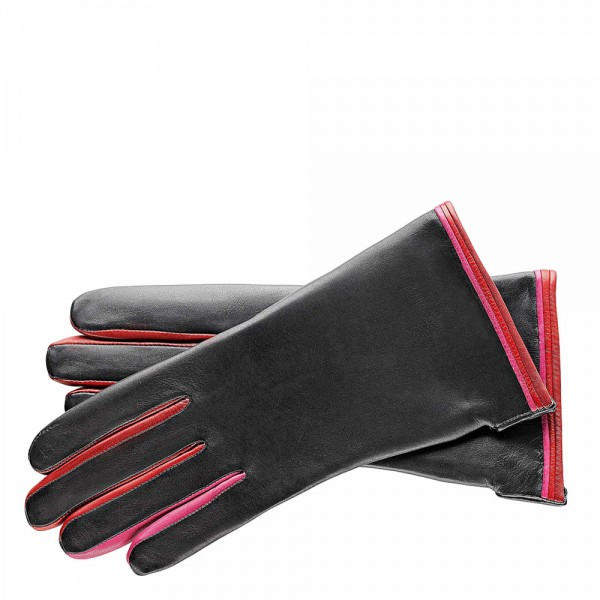 Roeckl Classic Colour Mix Handschoenen 7.0 black - red