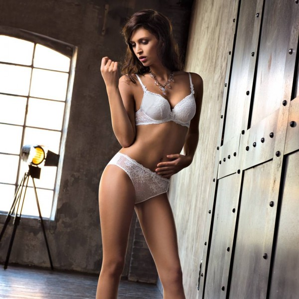 AMBRA Lingerie slips Chantilly slip wit 1372