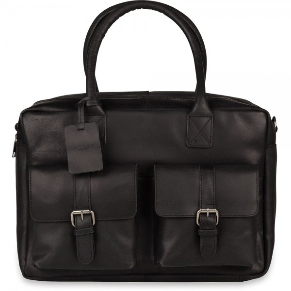 Laptoptas Burkely Finn Vintage Businessbag Classic Black 14 inch