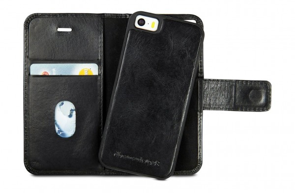 iPhone hoesje dbramante1928 Lynge Leather Wallet iPhone 5/5S/SE Hoesje Black