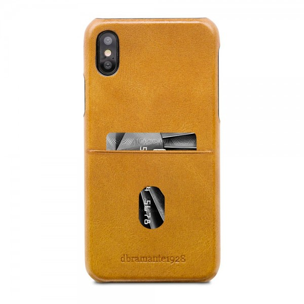 dbramante1928 Tune cc Leather Backcover iPhone X - XS Tan