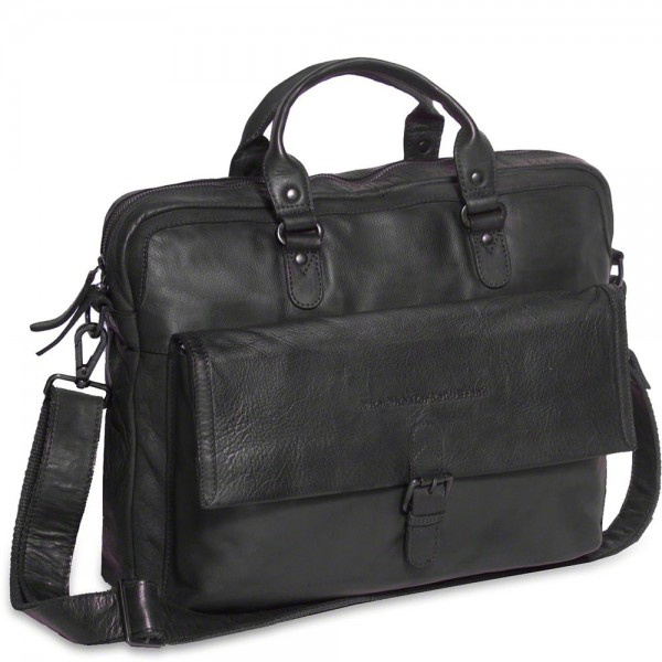 Laptoptas Chesterfield Leren Laptoptas 15 inch Steve Antraciet