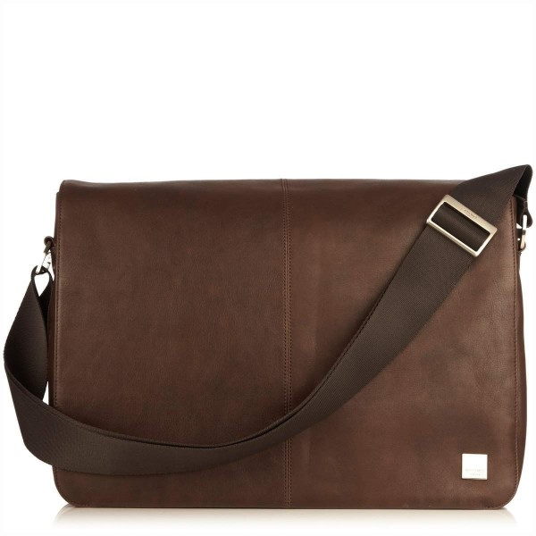 Knomo Bungo Expandable Messenger Brown 15.6 inch