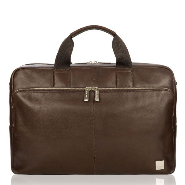 Knomo Amesbury Leather Briefcase Brown 15.6 inch