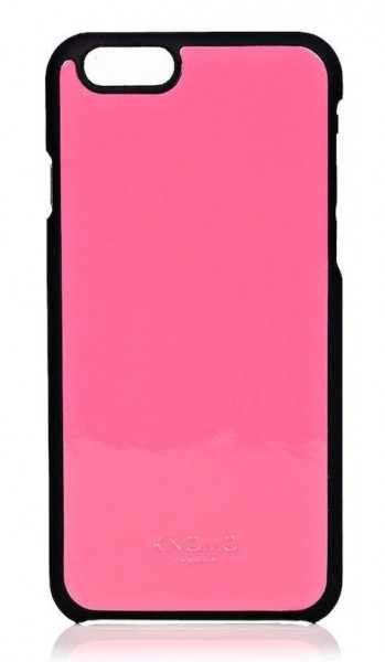 iPhone hoesje Knomo iPhone 6/6S Leather Snap On Case Fluro Pink