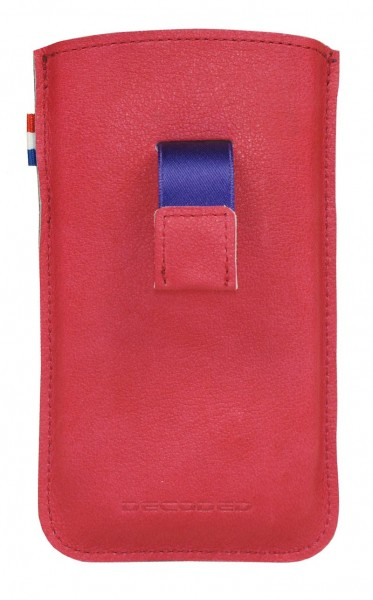 iPhone hoesje Decoded iPhone 4/4S Leather Pouch Strap Fuchsia