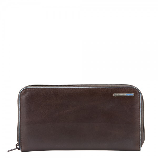 Piquadro Blue Square Women's Wallet Coins brown