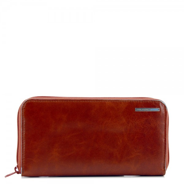 Piquadro Blue Square Women's Wallet Coins orange