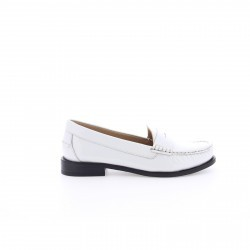 Bronx White Leather Low Shoe