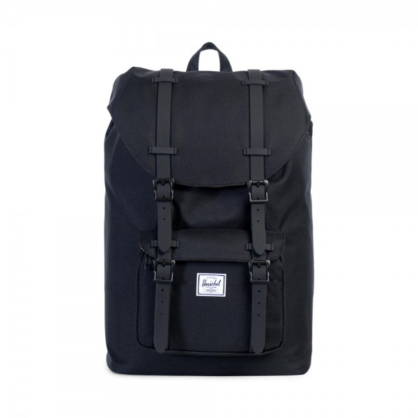 Herschel Supply Co. Little America Mid Volume Rugzak Black Rubber