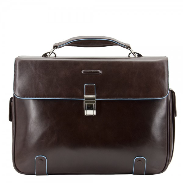 Piquadro Blue Square Briefcase 2-vaks brown