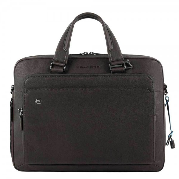 Piquadro Black Square Computer Briefcase 15 + iPad Air/Pro 9.7 dark brown